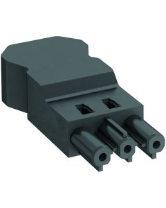 OBO BT-S4 GST18i3 SW female connector 3 pins screw connection PA black 6108064